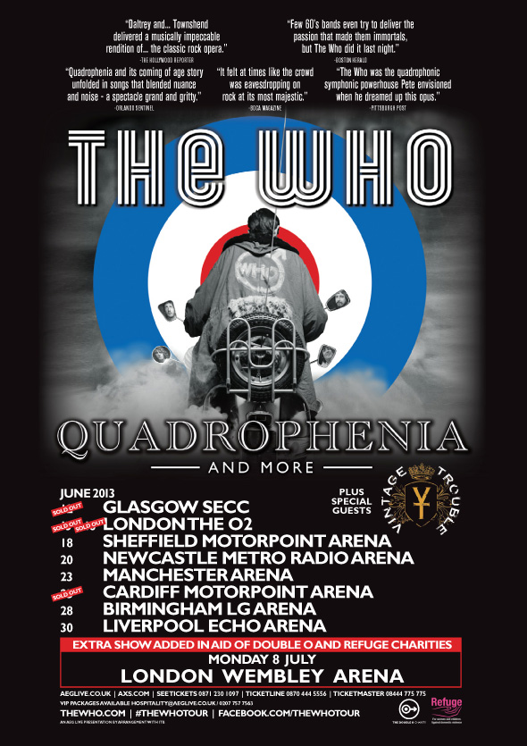 The Who Quadrophenia and more UK Tour 2013