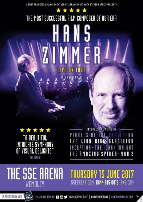 Hans Zimmer, Hollywood's most in demand and innovative film music composer whose 100 film scores have made over $24 billion at the box office, ...