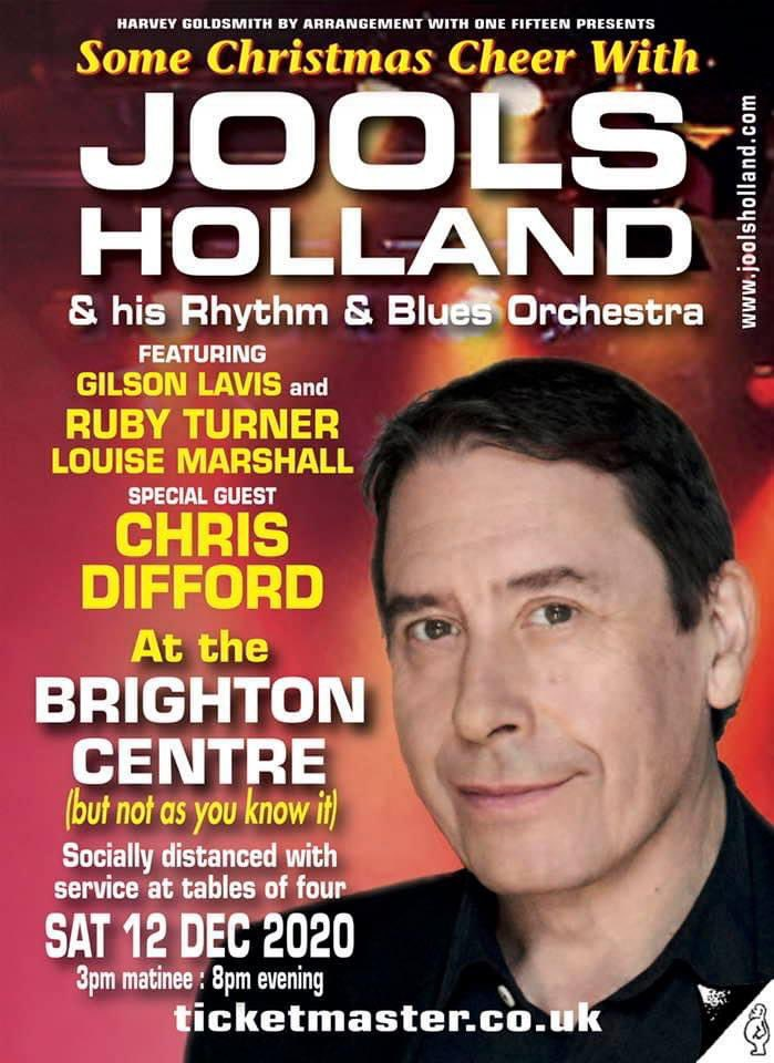 JOOLS HOLLAND ANNOUNCES TWO SHOWS WITH SOME CHRISTMAS CHEER